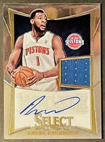 2012 Panini Select Autograph Andre Drummond RC Rookie Patch Auto /149 RPA