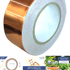 Copper Tape Conductive Adhesive 1 Inch X 66ft Copper Foil Tape For Emi Shie