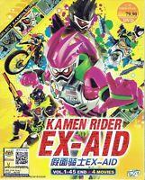 KAMEN RIDER EX-AID - COMPLETE TV SERIES DVD (1-45 EPS + 4 MOVIE) (ENG SUB)