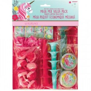 MAGICAL UNICORN MEGA MIX VALUE PACK - 48 PIECES BIRTHDAY PARTY SUPPLIES