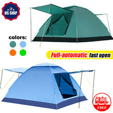 Outdoor 3-4 Person Waterproof Instant Tents Camping Automatic Pop Up 4 Colors