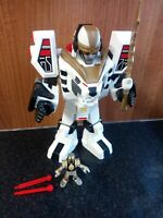 Imaginext Power Rangers Tiger Zord with White Ranger And 2 Missiles - Kids Toys