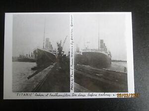 "RMS "" TITANIC "" RARE MODERN POSTCARD OF AMATEUR SNAPSHOT SOTON 8 APR 1912"