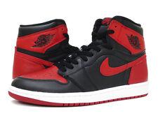 Mens Air Jordan 1 Retro High OG 555088-001 Black/Varsity Red Brand New Size 17