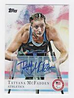 2012 Topps USA Olympic Team Autograph #18 Tatyana McFadden Track Marathon