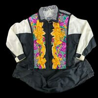 Vintage 90s East West Floral Jogger Windbreaker Jacket Pants 2-Piece Tracksuit