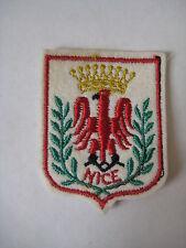 Vintage Nice France Cote d'Azur coat of arms PATCH souvenir retro French Riviera
