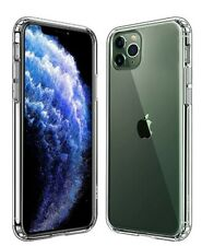 For iPhone 11 Pro Max Case Reinforced Corner TPU Bumper Hard Back Panel Clear