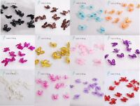 "24 PCS 1"" Organza Butterflies Craft Wedding Party Decoration 17 Color to Choose"