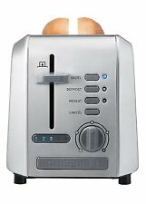 Chefman RJ31-SS Stainless 2-Slice Toaster, Silver New