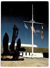Battleship Indiana Anchor Flags Postcard Astoria Oregon Columbia Maritime Museum