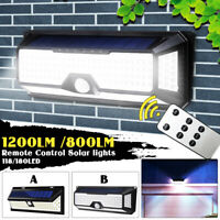 1200LM 180 LED COB Solar Wall Light Motion Sensor Outdoor Garden Security Lamp