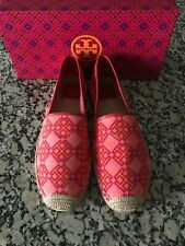 4442f4e9b83d82 Tory Burch Honeysuckle Classic Espadrille 4t  Red Volcano Womens Size 9