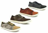Mens New Canvas Flat Lace Up Casual Comfort Plimsolls Trainers UK Sizes 7-12