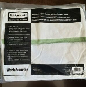 Rubbermaid Hygen Microfiber Cleaning Cloth Towel 16x19 Removes Microbes, 24 Pack