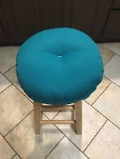 bar stool cushioned cover in home decore fabric Turquoise/off White Colors