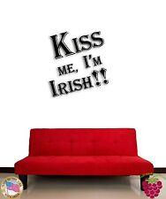 Wall Sticker Irish Ireland Kiss Me I am Irish for Living Room z1342