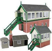 Metcalfe PN133 Signal Box Set (4 Buildings) Die Cut Card Kit 'N' Gauge New 1st