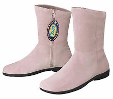 Dexter Estate Ladies Light Pink Suede Kidskin Leather Ankle Boots Size 7.5 M