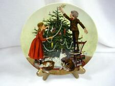 Mib No Coa Christmas Collector Plate Trimming Tree Don Spaulding
