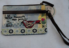 p hello possibility gratitude KELLY RAE ROBERTS WRISTLET 5 x 7 purse on the go