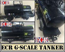 NEW G SCALE 45mm GAUGE BLACK OIL TANKER  CARGO TANK ROLLING RAILWAY STOCK TRAIN