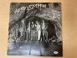 STEVEN TYLER Signed Autograph AEROSMITH NIGHT IN THE RUTS Vinyl Record Album PSA