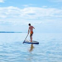 11' Inflatable SUP Profession Surfing Stand Up Paddle Board Portable Full Kit