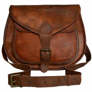 Vintage Brown Leather Hot Women Smart Messenger Cross Body Bag Handmade Purse