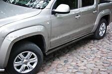 BARRES LATERALES X2 INOX, NOIR,  VW AMAROK 11- INOX DIAM 60MM