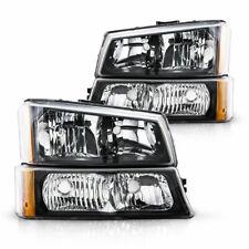 For 2003 2006 Chevy Silverado 1500 2500 3500 Black Housing Headlight Headlamp Us Fits More Than One Vehicle
