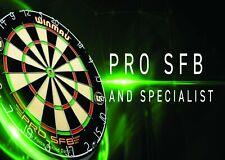 WINMAU PRO SFB Dart Board  Premium Bristle Staple Free Bulls eye Man Cave Gift