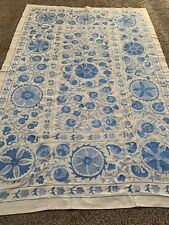 Uzbek Beautiful Vintage Hand Embroidered Wall Decor Quilt Bedding Suzani