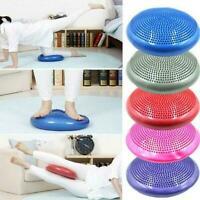 1x Yoga Balance Board Air Cushion Pad Pump Yoga Mat Home Massage X1X7