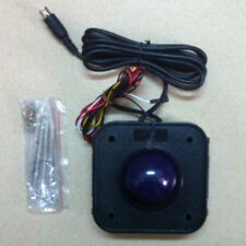 Arcade game purple 4.5cm PS2 PCB connector Trackball mouse with screws