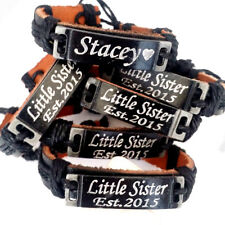 Personalized Leather Bracelets For Couple Free Engraved
