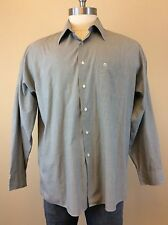 ETIENNE AIGNER Men's Gray Long Sleeve Button Down Shirt Size 17 (34-35)