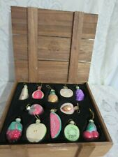 2002 Thomas Pacconi Classics Box of 12 Fruit Christmas Ornaments