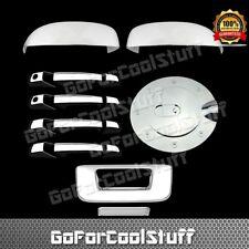 Fit 2007-2013 GMC Sierra Mirror Cover 4 Doors Handle W/ PKH &GAS Door Tailgate