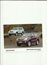 """TOYOTA LAND CRUISER 3 e 5 PORTE PRESS PHOTO DIC. 2002 per 2003' BROCHURE correlati"""""""