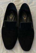TOD'S Women's Black Suede Loafers Size IT 37