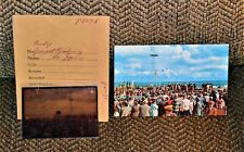 VTG 1954 Postcard & Original Negative Mackinac Bridge Groundbreaking Ceremony MI