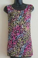 SELECT UK Size 16 Ladies Multicoloured Sleeveless See Through Vest Top