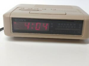 vintage sony dream machine clock radio# ICF-C240( coffee/mud) color