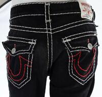 True Religion Mens Denim Jeans RICKY SUPER T Straight BLACK Designer 30-44 $295
