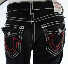 True Religion Hombre Denim Jeans Ricky Super Diseñador Negro Recto T 30-44 $295