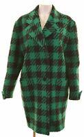 VINTAGE Womens Top Coat US 12 XL Green Wool  BB13