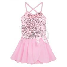 Girls Kids Gymnastic Ballet Leotard Skirt Tutu Dress Dance Wear Outfit Costume