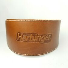 """Harbinger 6"""" Oiled Leather Weight Lifting Belt - Brown Size Medium"""