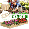 Raised Elevated Garden Planter Bed Box Kit Vegetable Flower Herbs Outdoor Large